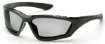 12 Pack Accurist Safety Glasses - Light Gray Lens Black Frame