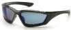 12 Pack Accurist Safety Glasses - Blue Mirror Lens Black Frame