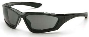12 Pack Accurist Safety Glasses - Gray Lens Black Frame