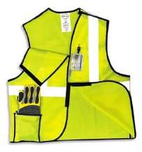 OccuLux ANSI Class 2 Break-Away Vest (Solid) (Hook Loop Closure)