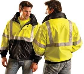 Blow-Out OccuLux ANSI Class 3 Hi-Viz Convertible Bomber Jacket - Black Bottom - Limited Supply