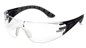 12 Pack - Endeavor Plus Clear LensBlack and Gray Temples