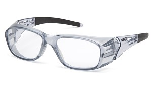 6 Pack - Emerge Plus - Clear Full Reader Lens - Gray Frame +3.0