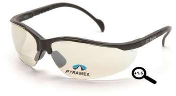 6 Pack V2 Readers Indoor/Outdoor Mirror + 1.5 Bi-Focal Lens Black Frame