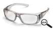 6 Pack Emerge - Gray Frame Clear +2.0 Full Reader Lens
