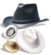 Vulcan Cowboy Hard Hats With 6 Pt Squeeze-Lock Suspension