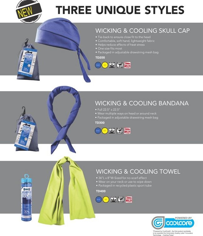 Tuff & Dry Wicking & Cooling Products