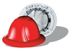 Vulcan Full Brim Hard Hats With Deluxe 6 Point Ratchet Suspension