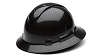 Ridgeline Shiny Black Graphite Full Brim Hard Hat