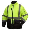 Pyramex RJR3310 Class 3 Black Bottom 4-in-1 Convertable Reversible Quilted Jacket