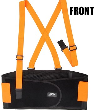 Pyramex Back Support - Hi-Viz - Standard Weight