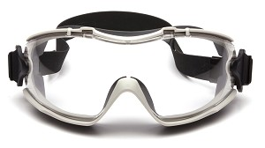 12 Pack Capstone RL - Clear Anti-Fog Lens with Gray Body and Adjustable Neoprene Strap