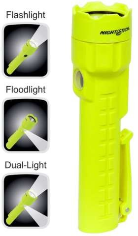 Nightstick Intrinsically Safe Dual-Light - LED - 3AA