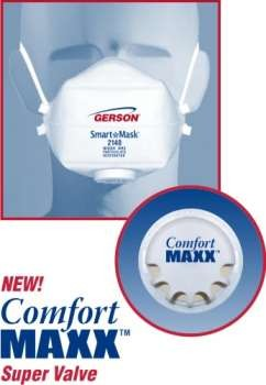 Bag Of 10 (Ind. Wrapped) - Gerson Smart Mask Particulate Respirators W/Valve - N95