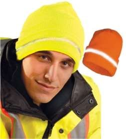 OccuLux Hi-Viz Knitted Cap w/ 3M Reflective Thread