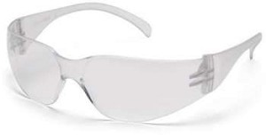 SINGLE PAIR MINI Intruder Safety Glasses - Clear Lens/Frame