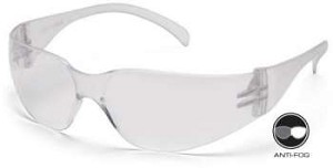 12 Pack Intruder Safety Glasses - Clear Anti-Fog Lens/Frame