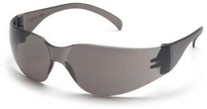 SINGLE PAIR Intruder Safety Glasses - Gray Lens/Frame