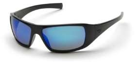 12 Pack Goliath - Black Frame Ice Blue Mirror Lens