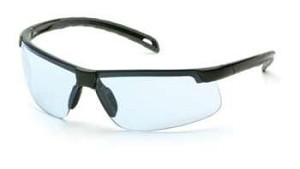 12 Pack Ever-Lite Safety Glasses - Infinity Blue Lens/Black Frame