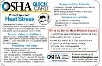 "12 Pack OSHA Heat Stress Stickers 4"" X 6"""