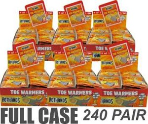 Case Of 240 Pair Hothands Toe Warmers With Adhesive