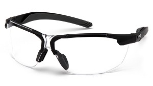 12 Pack - Flex-Zone Clear H2X Anti-Fog Lens with Black Frame