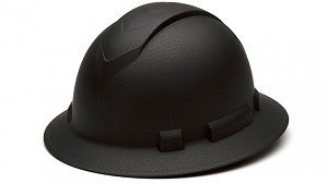 Ridgeline Graphite Pattern Full Brim Hard Hat - With 4 Point Ratchet Suspension
