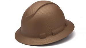 Ridgeline Copper Pattern Full Brim Hard Hats - With 4 Point Ratchet Suspension