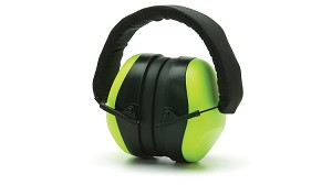 Low Profile High Viz Lime  Earmuffs