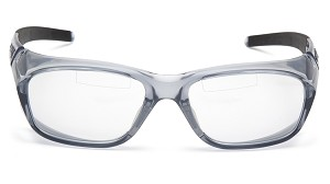 6 Pack - Emerge Plus - Clear TOP Reader Bi-Focal Lens - Gray Frame +1.5